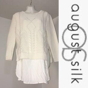 August Silk Sweater (L)